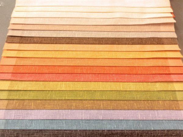 cartella colori misti lino