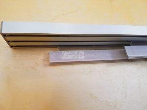 binario a pannelli alluminio satinato