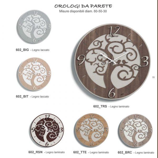 orologio albero colori vari