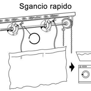 sistema di sgancio per lavaggio rapido