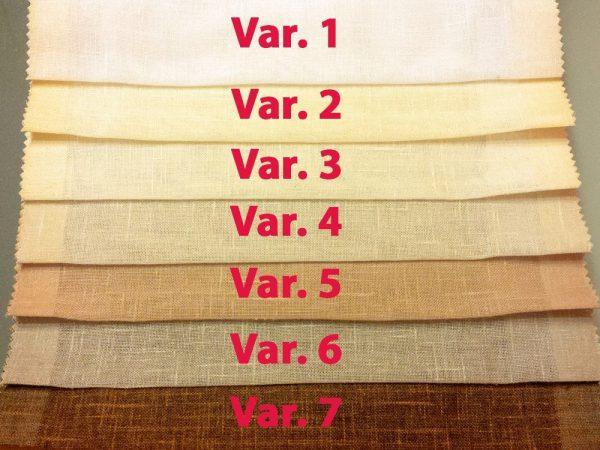 varianti di colore dall'1 al 7