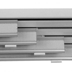 Binario a 4 vie col. alluminio satinato