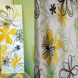 quadro con fiori stilizzati moderni