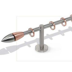 Bastone in acciaio con anelli