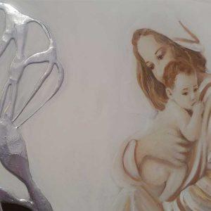 Quadro sacro madonna con bambino