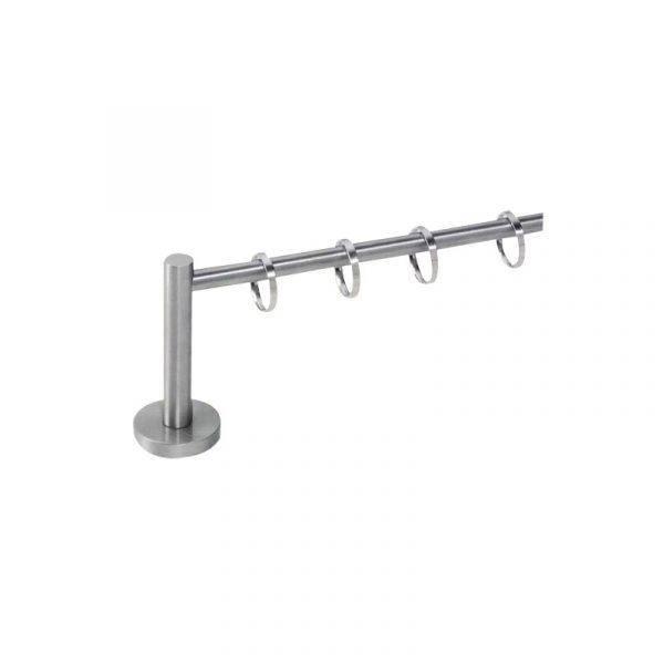 Bastone in acciaio con anelli mod. montreal
