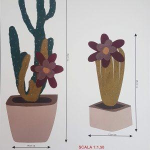 Misure esatte del disegno Cactus