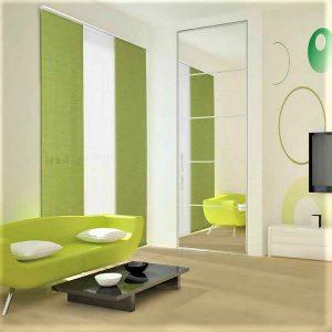pannelli alternati verde mela e bianchi