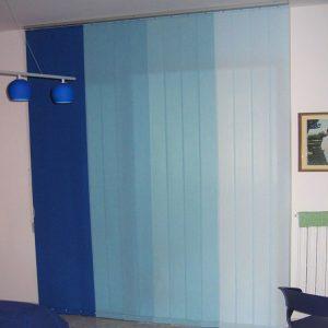 tenda verticale a quattro colori