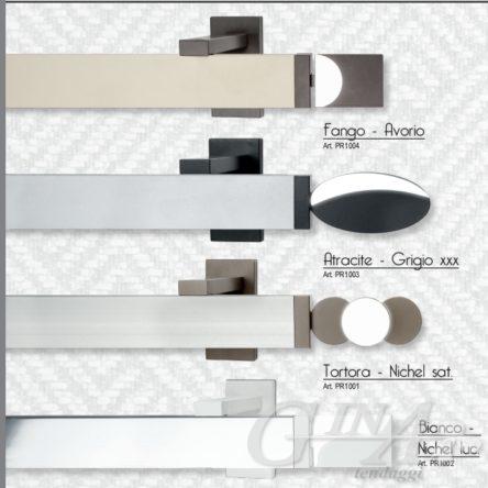 Binario per tende rettangolare piatto colorato