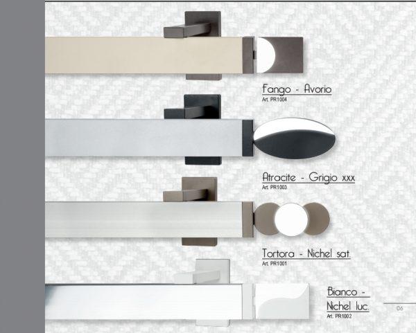 Binario per tende rettangolare moderno colorato