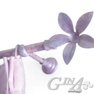 bastone con anelli supporto classico e finale calamitato begonia cobalto 57 effetti