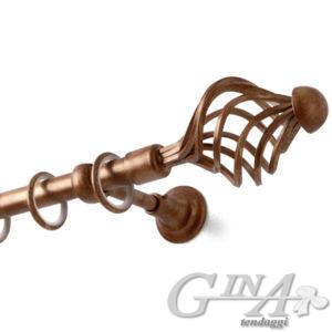 bastone ferro supporto classico finale Pesci perlato bronzo 247