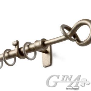 bastone in ferro con supporto filo e finale nodo effetti perla 14