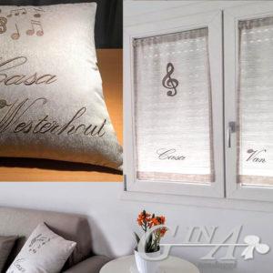 tendine vetrage e cuscini con scritte a vostra scelta