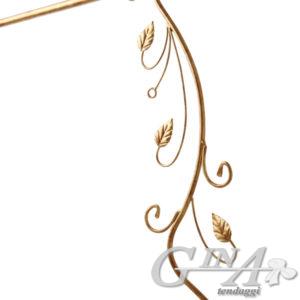 Bastone in ferro con supporto classico effetto oro con terminale Giacinto